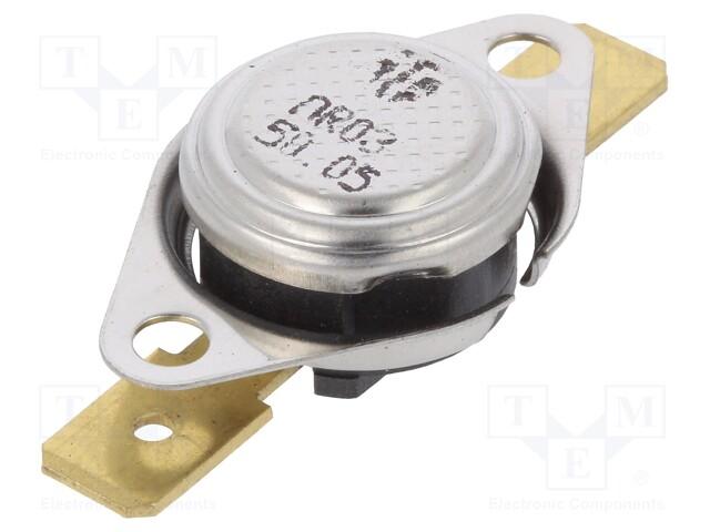 SPST-NC 165°C 16A 250VAC ±5°C thermostat Output conf AR03.165.05-W1-S3 Sensor
